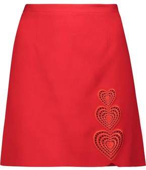 Christopher Kane Embroidered Crepe Mini Skirt