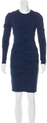 Nicole Miller Striped Gathered Dress $90 thestylecure.com