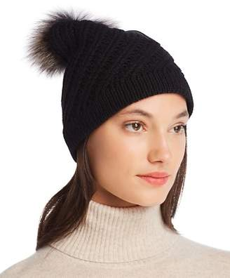 Raffaello Bettini Fur Pom-Pom Cashmere Beanie - 100% Exclusive