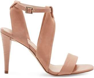Louise et Cie Kalkin Ankle-Strap Leather Suede Sandals
