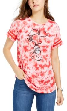 Freeze 24-7 7 7 Juniors' Cotton Tie-Dyed Snoopy T-Shirt