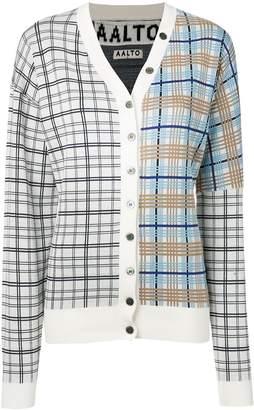 Aalto plaid contrast cardigan