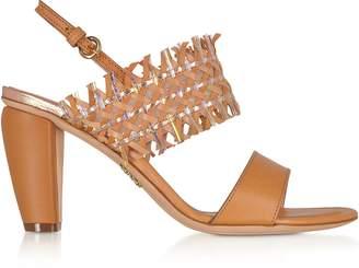 Rodo Cuoio Woven Leather Women's Sandals