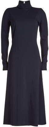 Victoria Beckham High Neck Jersey Midi Dress