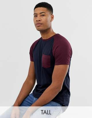 Tall raglan t-shirt with pocket