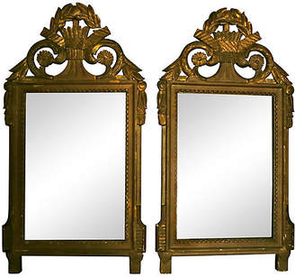 One Kings Lane Vintage 18th-C. French Mirrors - Set of 2 - Cliffe's Edge Antiques