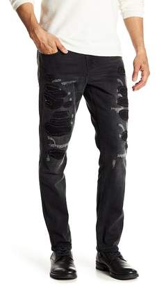 Request Patched Stretch Jeans