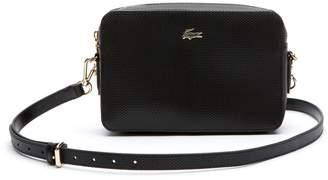 Lacoste Women's Chantaco Pique Leather Square Shoulder Bag