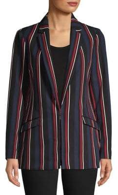 INC International Concepts Long-Sleeve Striped Blazer