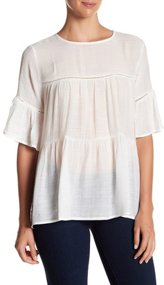 Bobeau Oversized Tiered Blouse $56 thestylecure.com