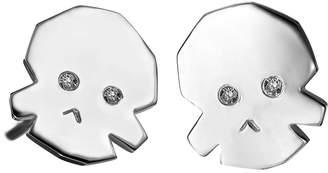 Delphine Leymarie Tiny Diamond Skull Earrings