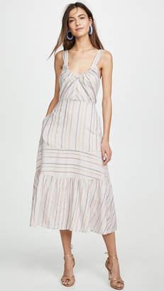 Rebecca Taylor Sleeveless Metallic Stripe Dress