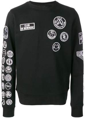 Kokon To Zai scout patches sweatshirt