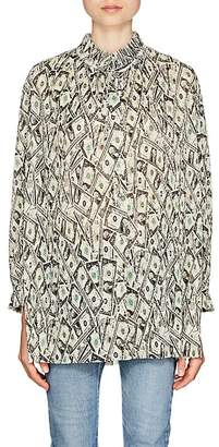 Balenciaga Women's Money-Print Plissé Tunic