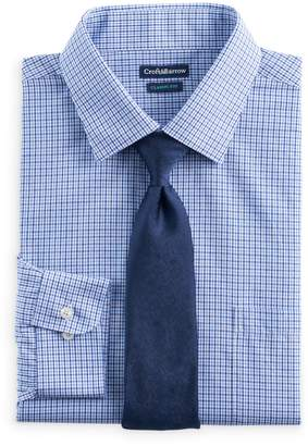 Croft & Barrow Big & Tall Classic-Fit Stretch-Collar Dress Shirt and Patterned Tie Boxed Set