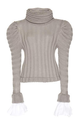 Johanna Ortiz Countess Of Greystoke Ribbed Cotton-Blend Turtleneck