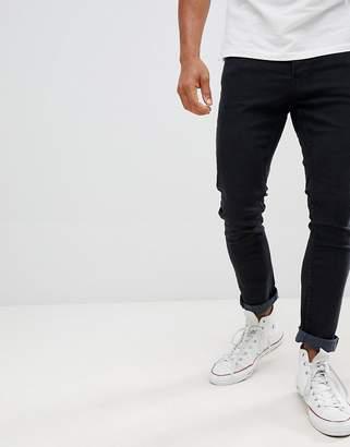Jack and Jones Slim Taper Jeans In Black Denim