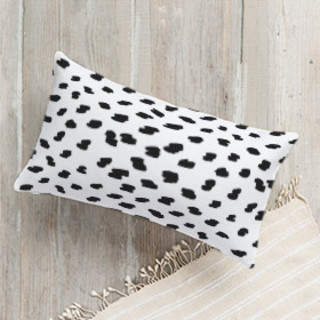 Brushed Spots Lumbar Pillow