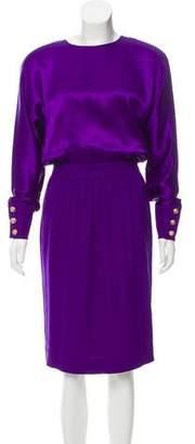 Nina Ricci Long Sleeve Midi Dress