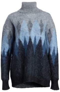 Junya Watanabe Argyle Mohair Jaquard Knit Sweater