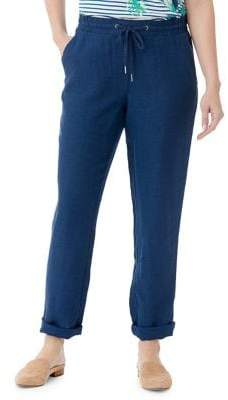 Olsen Lisa Linen Drawstring Pants