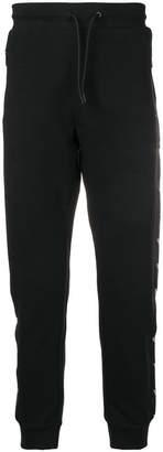 Emporio Armani logo stripe track trousers