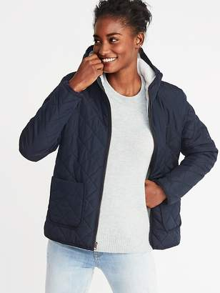 Old Navy Quilted Sherpa-Lined Hooded Jacket for Women