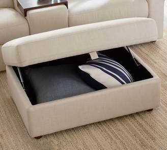 Pottery Barn PB Ultra Lounge Upholstered Sectional Storage Ottoman