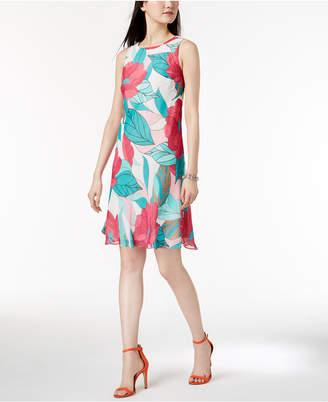 Nine West Sleeveless Printed Dress