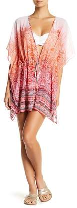 Hawaiian Tropic Sheer Ombre Print Caftan