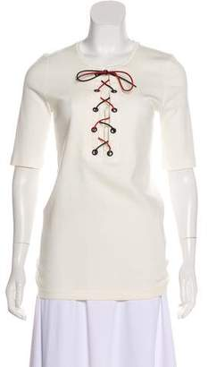 Sonia Rykiel Lace-Up Accent Top