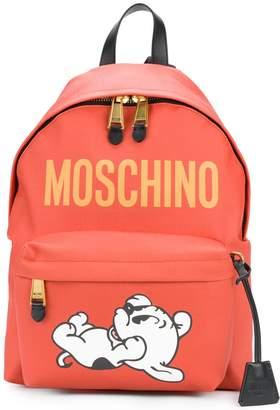 Moschino dog print backpack