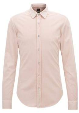BOSS Hugo Slim-fit shirt in printed single-jersey cotton M Light Red