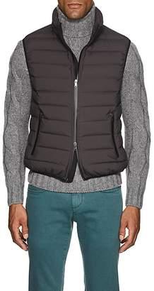 D'Avenza Men's Down-Quilted Tech-Taffeta Vest