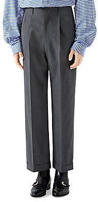 Gucci Men's Wool Gauze Trousers