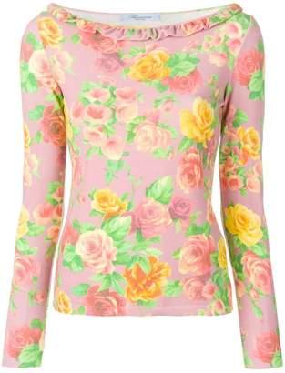 Blumarine floral print top
