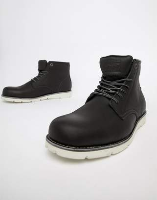 Levi's Levis jax high leather boot in black