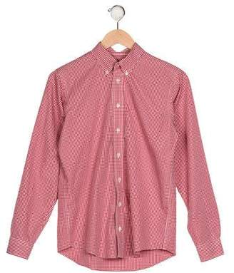 Brooks Brothers Boys' Gingham Button-Up Shirt