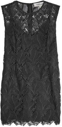 Diane von Furstenberg Mini Dress with Lace Overlay