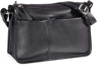 Derek Alexander Multi-Pocket Leather Shoulder Bag