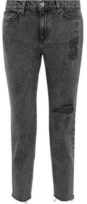 IRO Lana Cropped Distressed High-Rise Skinny Jeans