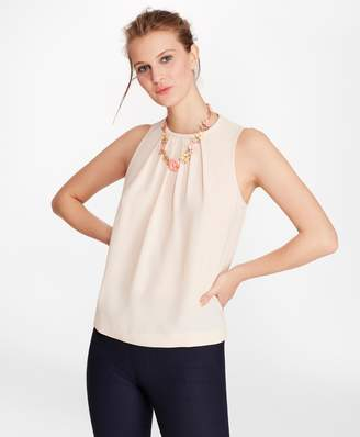 Brooks Brothers Gathered Crepe Blouse