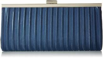Jessica McClintock Laura Pleated Satin Framed Clutch Evening Bag