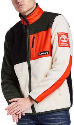 Timberland Men Sherpa Fleece Colorblock Jacket