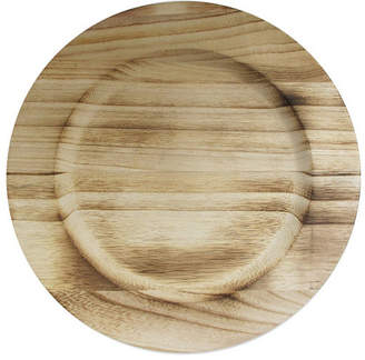 Jay Import Jay Imports Natural Fired Paulownia Wood Charger Plate