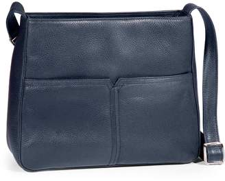 Derek Alexander Pebbled Leather Shoulder Bag