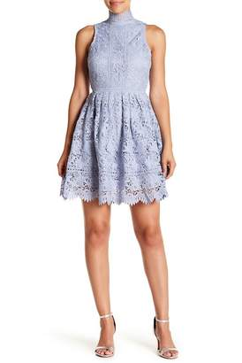 J.o.a. Lace Open Back Mini Dress