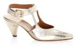 Laurence Dacade Women's Tosca Metallic Leather Mary Jane Pumps - Gold - Size 40.5 (10.5)