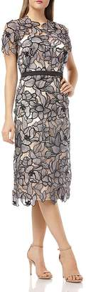 JS Collections Laser-Cut Lace Dress