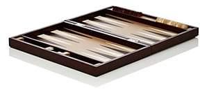 Barneys New York Leather Backgammon Set-Brown